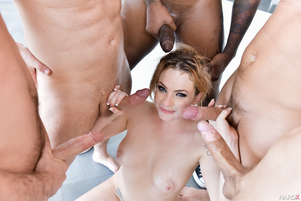 Jeny Baby Blowbanged With Hard Cocks And Gets Loads Of Cum Kitty-kats 1