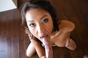 Asian girl Jayden Lee gets stuffed with fresh cum