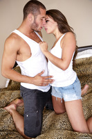 Marvelous Allie Haze enjoys a huge dick inside of her