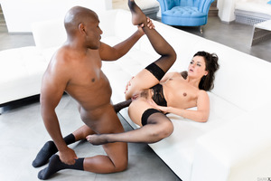 Marvelous Allie Haze gets penetrated by big cock of Mandingo