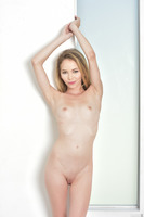 Sexy blondie Angel Smalls shows off her skinny body