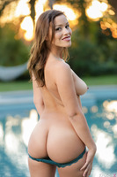 Gorgeous Karter Foxxx undresses for her man at the pool