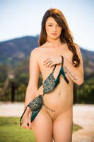 Aspen Ora takes part in a great photo session outdoor
