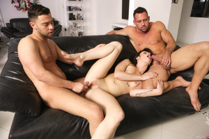 Aspen Ora nailed by Seth Gamble and Johnny Castle
