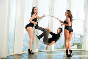 Logan Pierce penetrates hot Adriana Chechik and Aidra Fox
