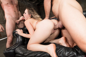 Mia Malkova gets double penetrated in a very hard way