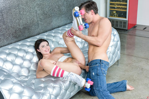Tight beauty Adria Rae gets nailed with a huge cock
