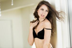 Riley Reid taking off her underwear in front of camera
