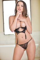 Dillion Harper undresses her underwear in close up