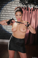 London Keys reveals her Asian pussy and sexy boobies