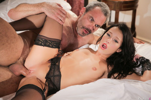Megan Rain gets licked out by an old guy Steven St. Croix