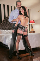 Steven St. Croix enjoys Megan Rains posing session