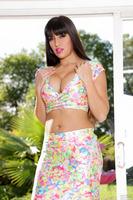 Latina pornstar Mercedes Carrera shows boobs while fucking