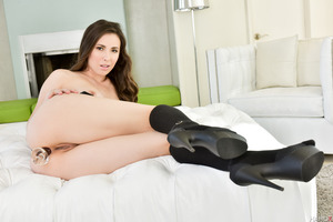Excellent brunette Casey Calvert gets licked out and fucked