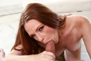 Incredible beauty Kossandra Raine posing and sucking