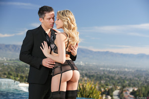 Excellent blonde Mia Malkova nailed in her stockings