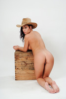 Tight cowgirl Shana Lane demonstrating her sweet pussy