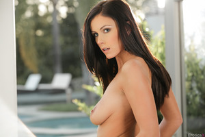 Whitney Westgate in an outdoor posing session undressing