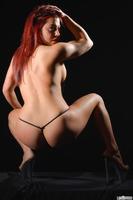 Fantastic redhead Heidi Van Horny showing off her body