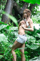Shana Lane undresses her awesome outfit while outdoor