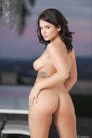 Brunette pornstar Keisha Grey showing her sweet forms
