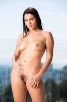 Valentina Nappi takes part in an outdoor posing session
