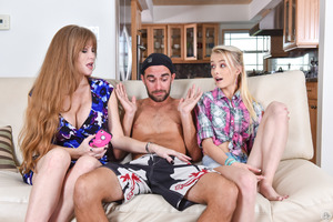 Darla Crane, Logan Pierce, Maddy Rose having threesome
