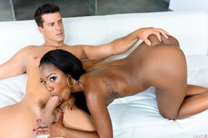 Ramon Nomar pounding Ebony pornstar Chanell Heart