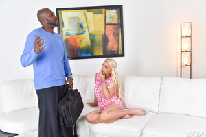 Threesome fuck with Lexington Steele and Savana Styles