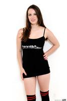 Astonishing Natalie Moore undresses her tight black skirt
