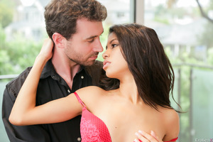 Veronica Rodriguez being nailed hardcore by James Deen