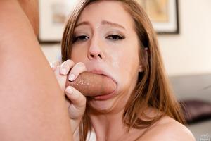 Brunette beauty Maddy O'Reilly enjoying a hot facial