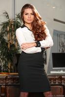 Veronica Vain is featured in her luxury black underwear