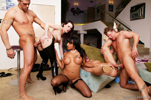 Wild group fuck party with a whole bunch of pornstars