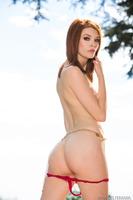Skinny pornstar Bree Daniels in her sparky red underwear