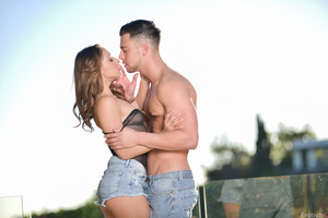 Seth Gamble and his girlfriend Sara Luvv having sex
