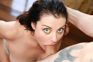 Tattooed stud for an excellent brunette Sovereign Syre