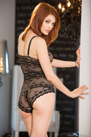 Naughty redhead Bree Daniels showing her amazing body