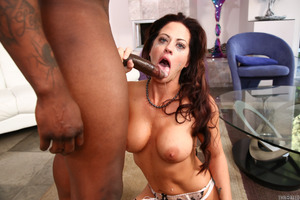 Huge black cock for an excellent pornstar Holly Heart