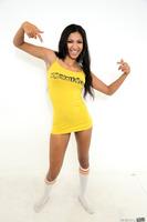 Latina cutie Sadie Santana showing off her hot body