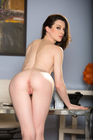 Office secretary Stoya reveals her forms while undressing
