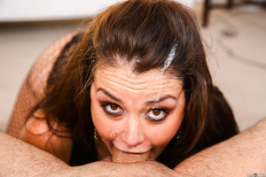 Big cock penetrates tight mouth of excellent Allie Haze