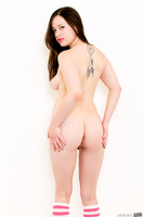 Natalie Moore reveals her buns while undressing in close up