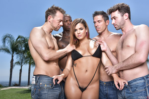Keisha Grey gets teased by filthy men before posing