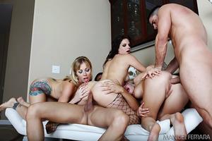 Threesome fuck with Adrianna Nicole, Andi Heart, Bobbi Starr