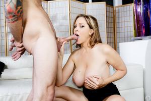 Julia Ann enjoying big dick of astounding Chad Alva