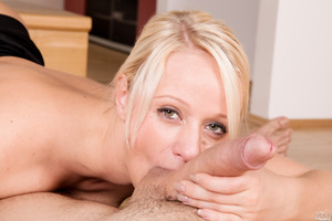 Blonde slut Lady Pink handles two hard dicks at once