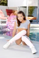 Tight Asian pornstar Alina Li revealing her sweet buns