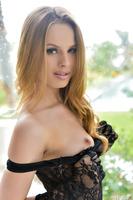 Jillian Janson undresses her excellent lingerie in close up