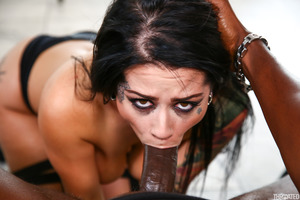 Katrina Jade enjoys a huge black dick inside of her